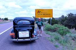 Aug. '11 entering New Mexico on 2nd attempt to Ohio
